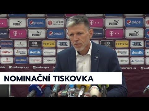 Nominační tisková konference české reprezentace