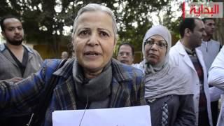 فيديو وصور.. منى مينا: وقفات اليوم فى كل مستشفيات مصر.. وملف الإهمال الطبي يستخدم لابتزاز الأطباء لا للإصلاح