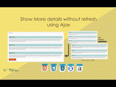 Show More details without refresh using Ajax ~ Lean Infinity