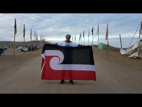 Maori stand with Standing Rock