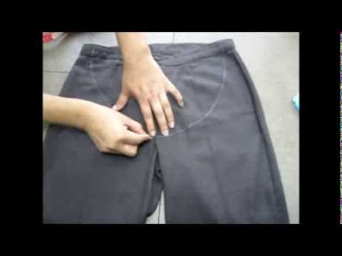 Tutorial Como Transformar Un Pantalon Normal A Un Pantalon De Embarazo Youtube