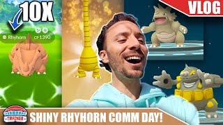 NOW THIS IS COMMUNITY DAY! SHINY RHYHORN COMMUNITY DAY TO THE MAX - ATLANTA | POKÉMON GO VLOG