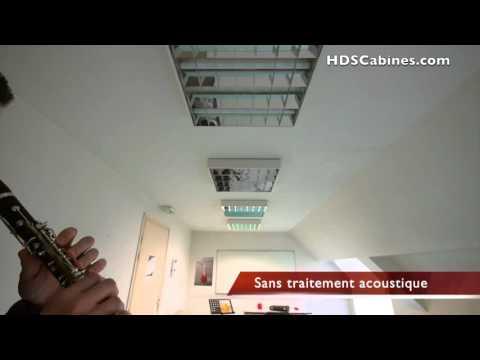 Traitement acoustique avant/après - Acoustic treatment before/after