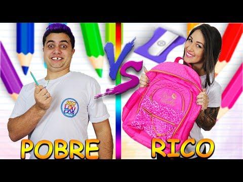 RICO VS POBRE VOLTA AS AULAS | Maloucos