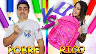 RICO VS POBRE VOLTA AS AULAS | Maloucos