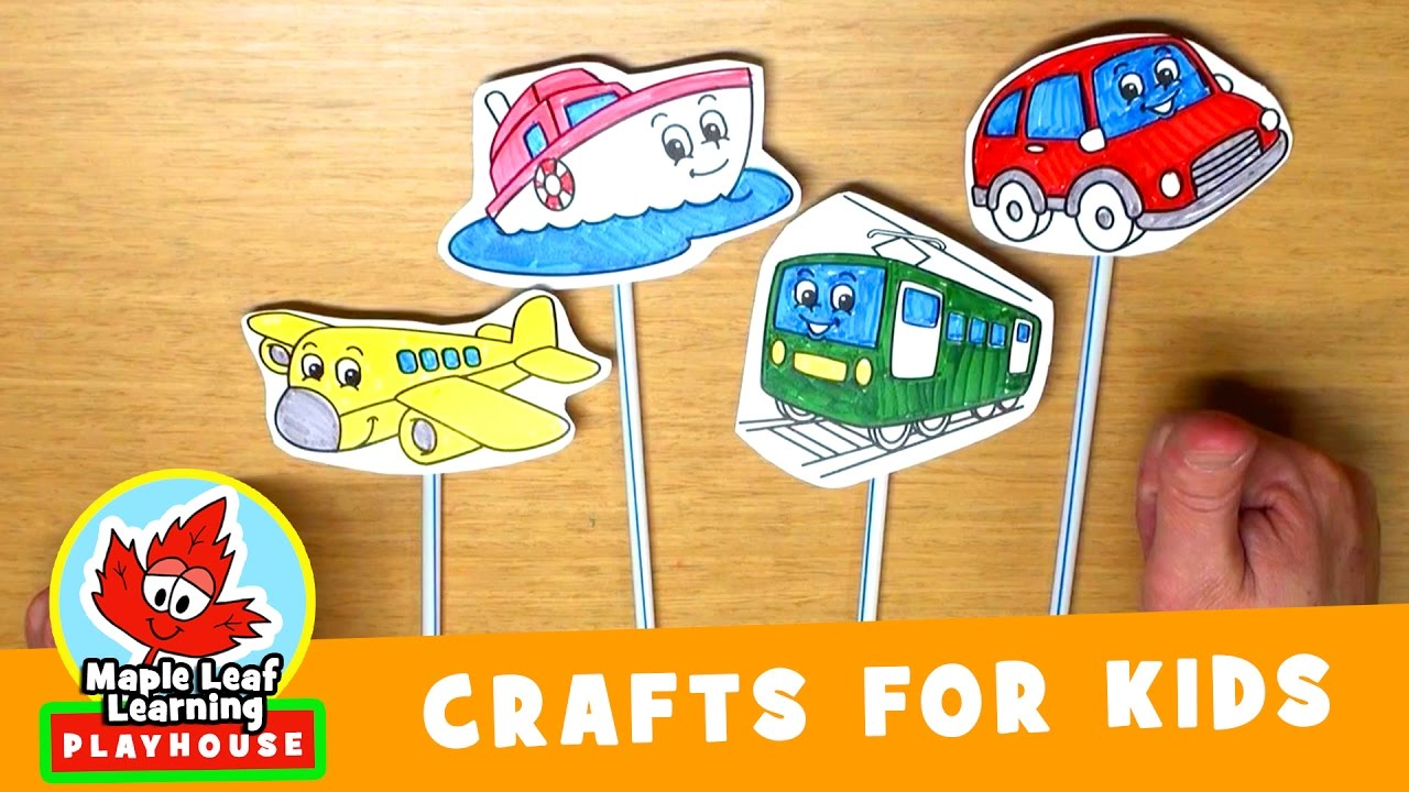 Vehicle Craft For Kids Maple Leaf Learning Playhouse Youtube