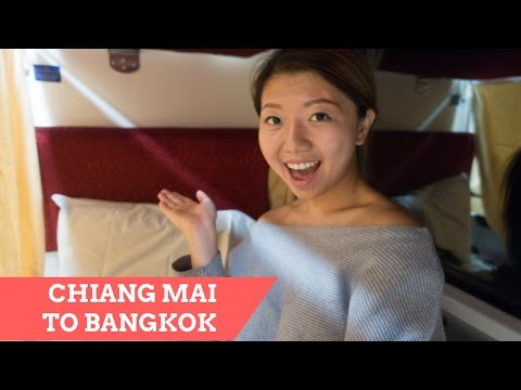Chiang Mai to Bangkok Overnight Train, Second Class Sleeper