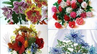 Какие цветы можно сплести из бисера