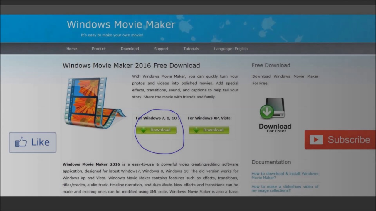 free download movie maker for windows 7 full crack