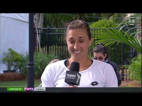 Petra Martic - 2019 Charleston First Round Tennis Channel Desk Interview