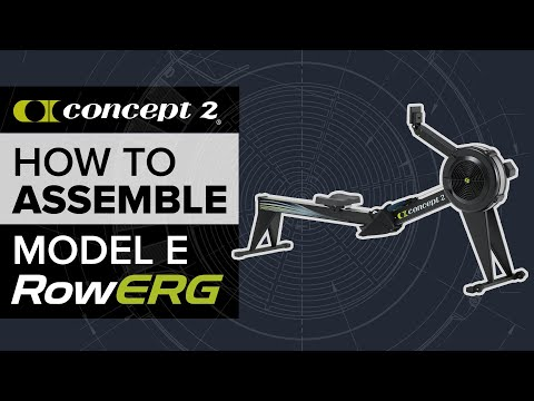 How to Assemble your Concept2 Model E Indoor Rowing Machine