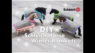 🐎 DIY Schleich 🏇 Horse Winter Blanket Tutorial for kids ❀ Emily's Small World ❀