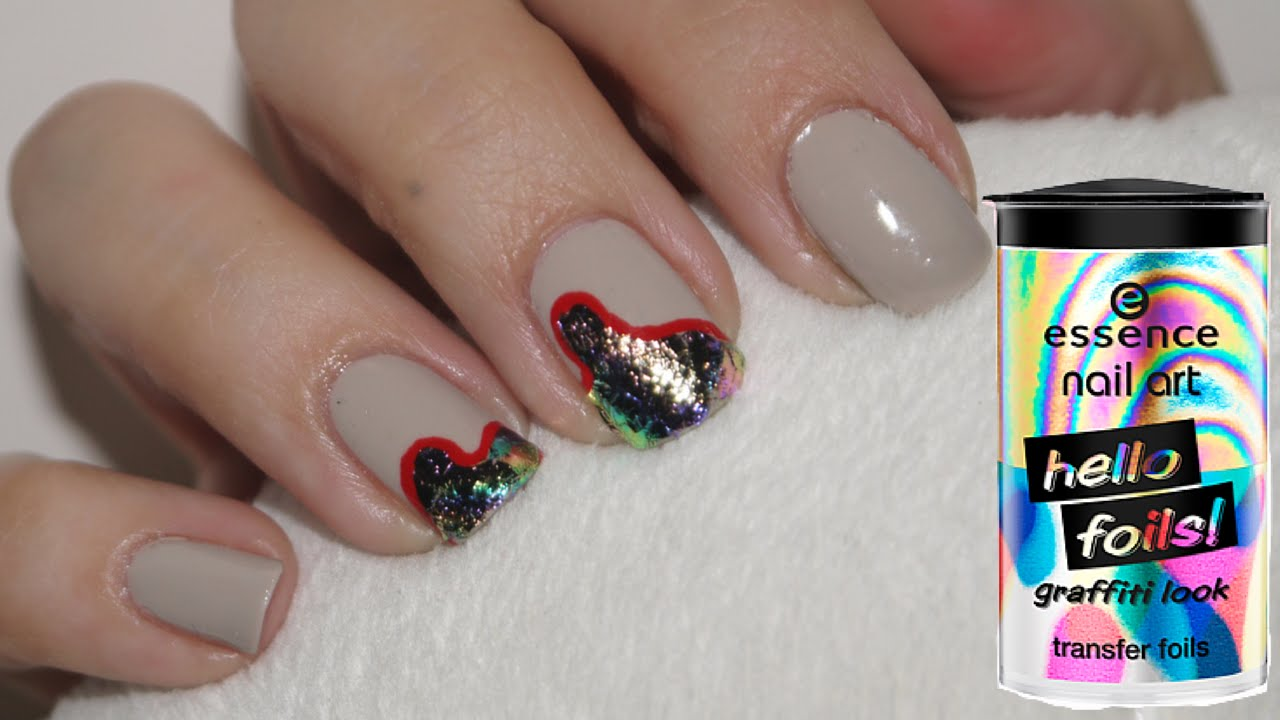 Essence hello foils nail art youtube prinsesfo Images