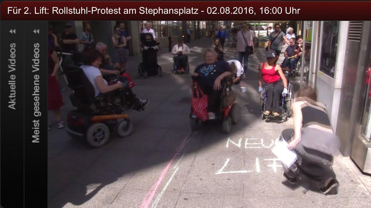 Warteschlangen-Protest-Picknick am Stephansplatz am 2