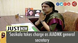 live vk sasikala sworn in as aiadmk general secretary