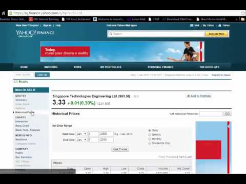 How to download historical prices into spreadsheet? - YouTube