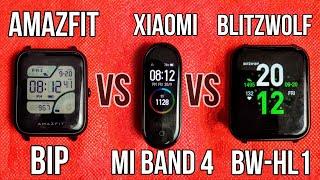 Xiaomi Mi Band 4 VS Blitzwolf BW-HL1 VS Amazfit Bip TreadMill Accuracy Test for Fitness Trackers