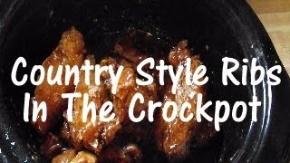Crockpot Country Style Barbecue Spare Ribs