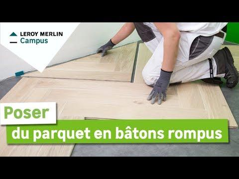 Comment Poser Un Parquet En Bâtons Rompus Leroy Merlin