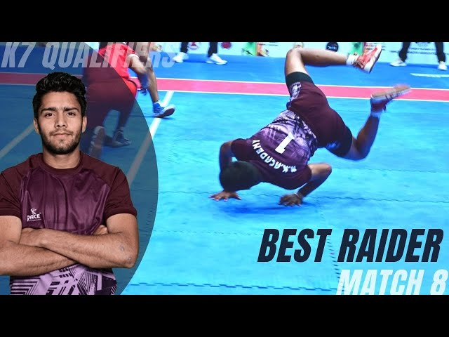 Umesh scored 12 raid points in the match to shine as a Best Raider | K7 Qualifiers | Super 10