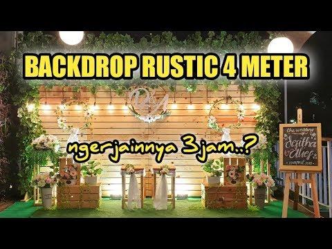 DIY Backdrop Photobooth Wedding Rustic 4meter   Di Malang