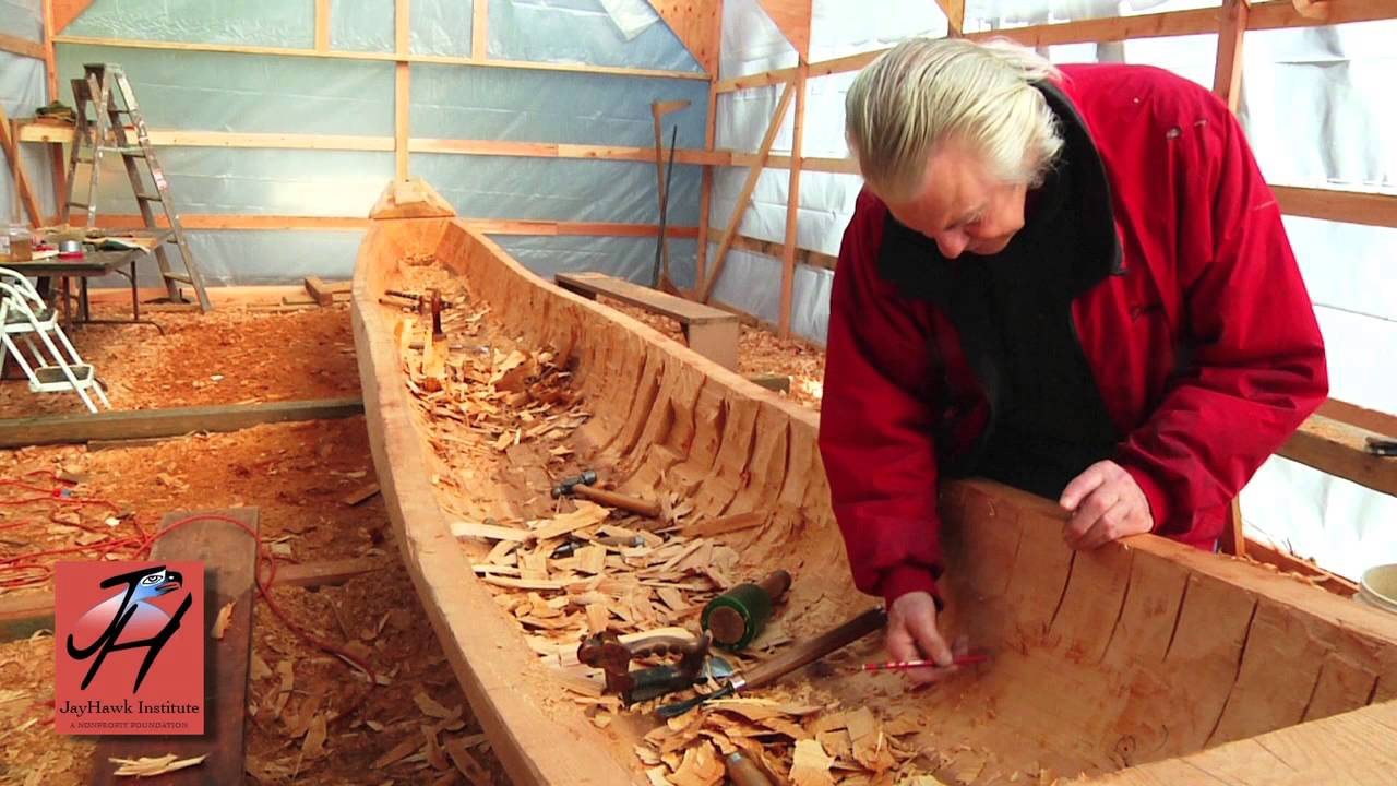 7 Hollowing Out The Canoe