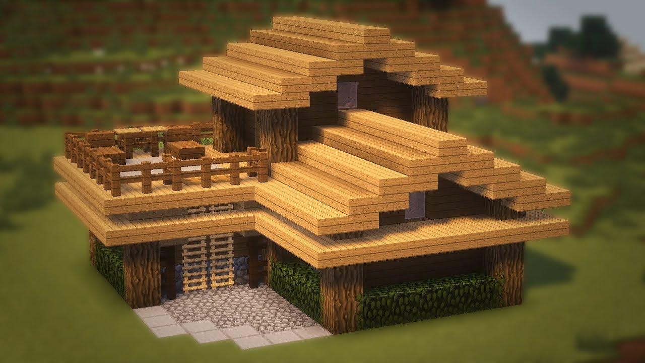 смотреть как сделать в майнкрафте маленький домик из дерева #4