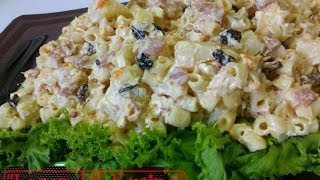 MACARONI CHICKEN SALAD - Homemade