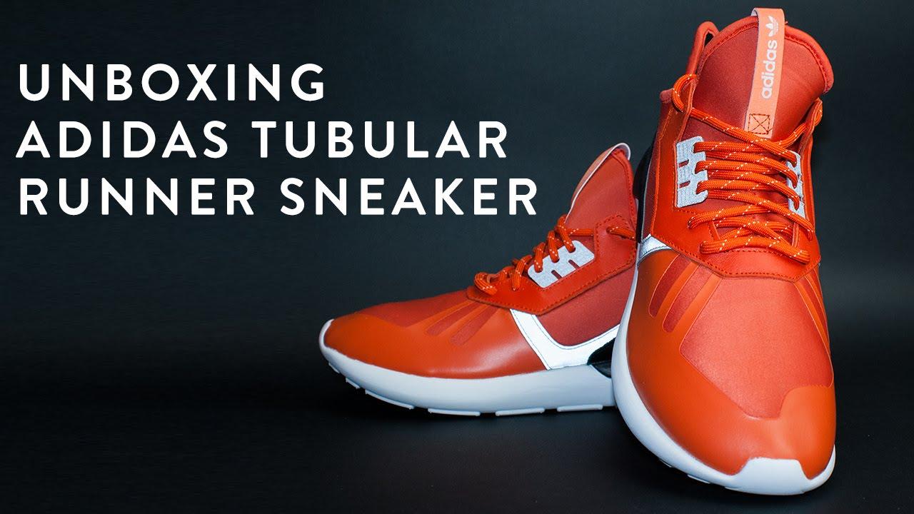 adidas tubulare scarpe ai piedi del nuovo corriere unboxing