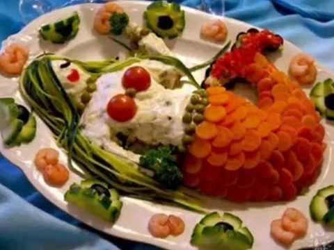 Как красиво украсить салат Мимоза