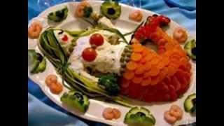 Как украсить салат. 50 красивых вариантов