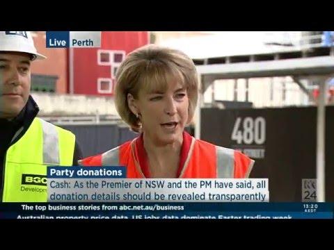 Michaelia Cash ABCC Media Conference Perth