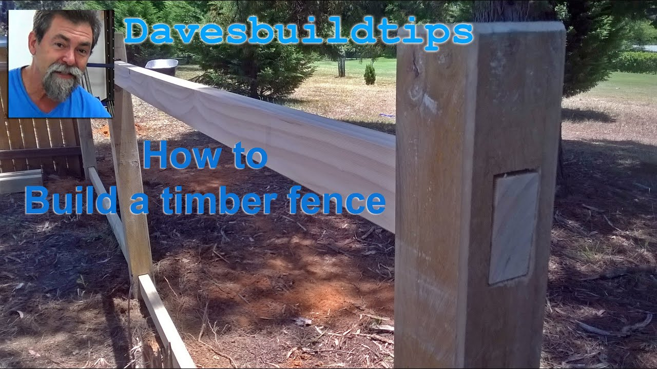 How To Build A Post And Rail Fence Dave Stanton