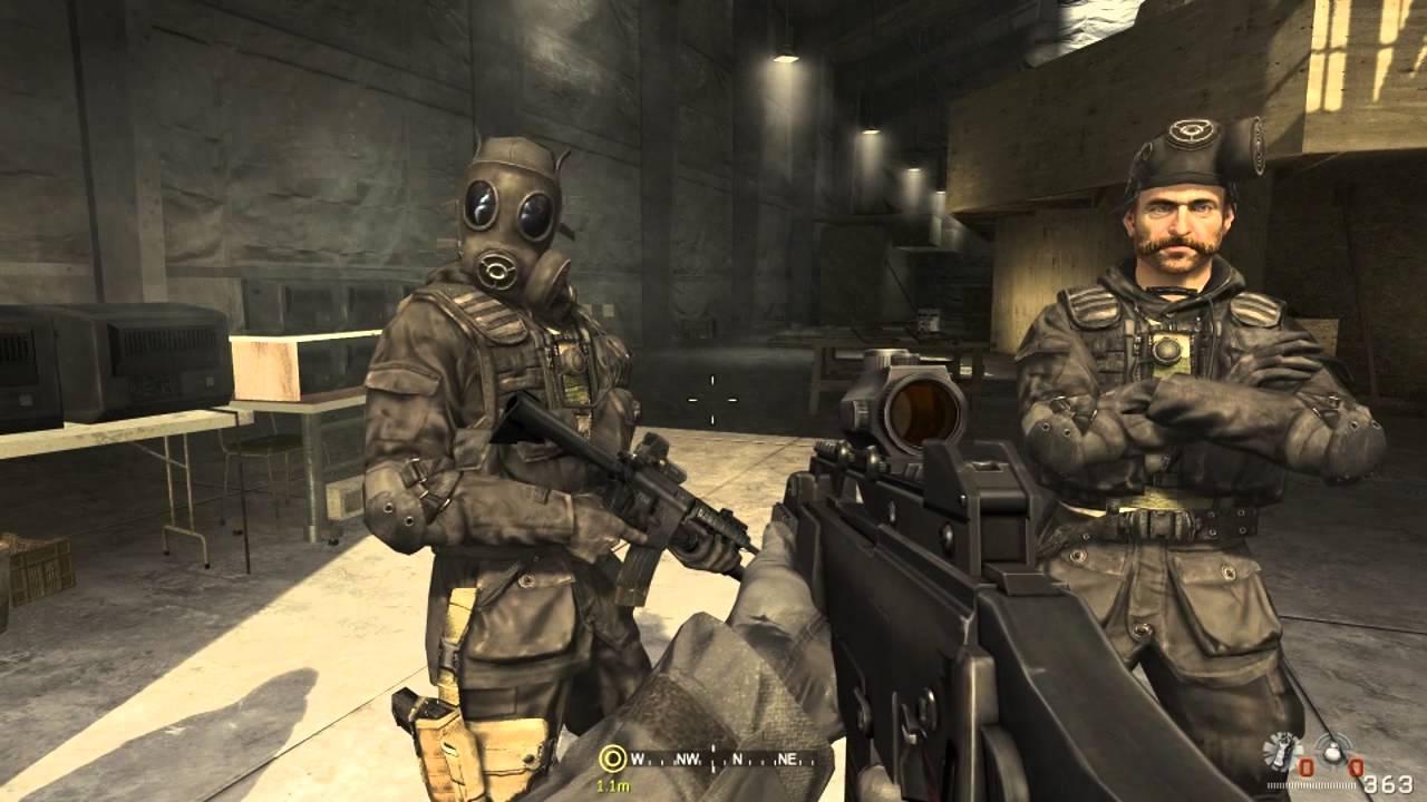 Mw2 Ghost Wallpaper Hd Call Of Duty 4 Modern Warfare Walkthrough Part 1 Level 1