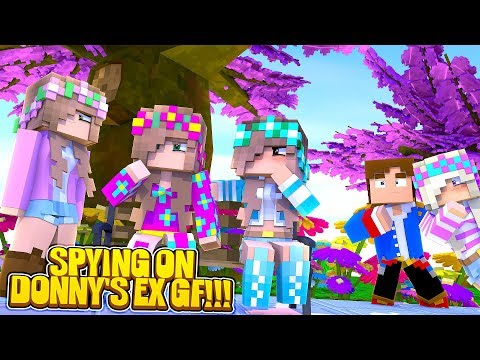 Minecraft LEAH SPIES ON DONNY'S EX GIRLFRIENDS TO FIND OUT WHO WANTS TO SABOTAGE HER WEDDING!!!
