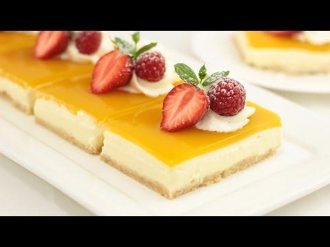 Mango Cheesecake I Fruchtige Mango Schnitten Ohne Gelatine