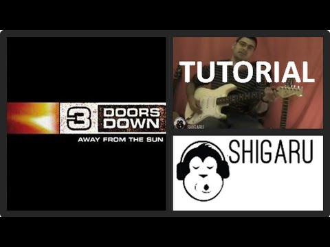 How to Play 'Love Me When I'm Gone' by 3 Doors Down (electric guitar lesson/tutorial)