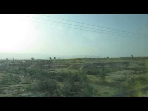 Jordan, near the border with Israel - encampment of refugees from Syria