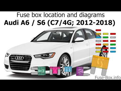Fuse box location and diagrams: Audi A6 / S6 (C7/4G; 2012-2018) - YouTubeYouTube