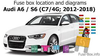 fuse box location and diagrams: audi a6 / s6 (c7/4g; 2012-2018) - youtube  youtube