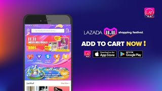 Lazada 11.11 shopping festival - Add to cart now!