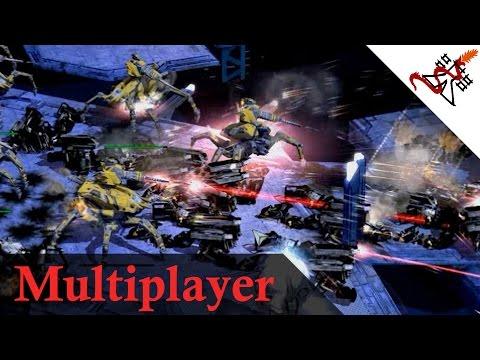 Supreme Commander 2 - 4v4 Massive UNBREAKABLE Land Defense   Multiplayer Gameplay
