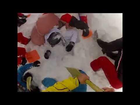 Val disere 2015 Rescue of avalanche