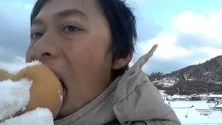Ray makan salju