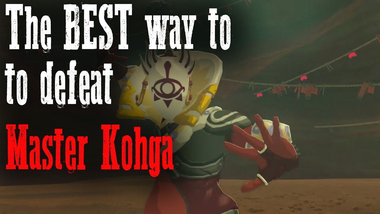 The BEST way to defeat Master Kohga - Zelda Breath of the ...