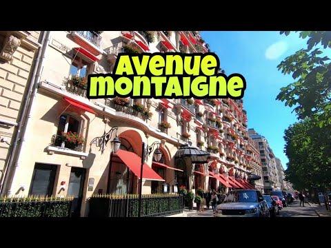 """Walking tour in Paris : Avenue Montaigne - """"Luxury shopping"""""""