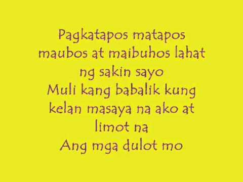 Sa Gitna ng Ulan -Lyrics.Breezy Boyz