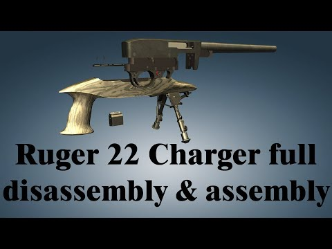 Ruger 22 Charger Pistol: full disassembly & assembly