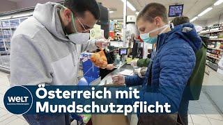 KAMPF GEGEN CORONAVIRUS: Covid-19-Schutzmasken-Pflicht in Österreichs Supermärkten