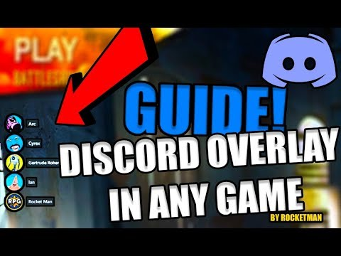 How To Add Discord Overlay To Any Game Or Recording